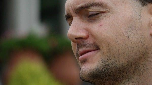 Man in pain closeup