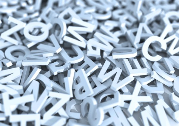 Pile of white letters