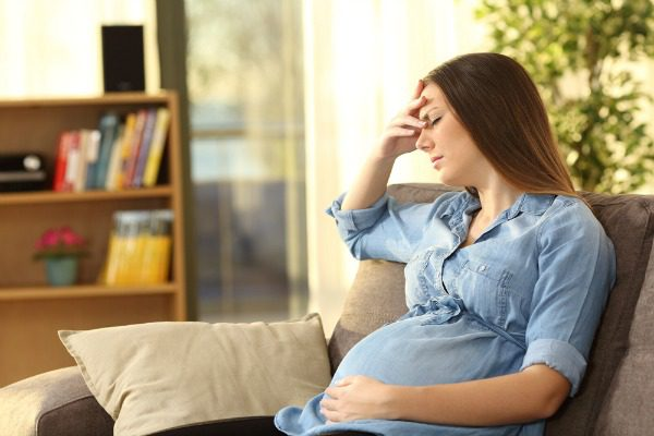 Pregnant woman with mental health issues